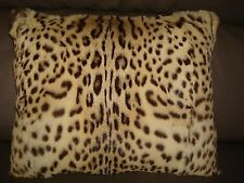 """1 SMALLER SPOTTED GEOFFREY FUR PILLOW 12"""" x 10"""" FREE USA SHIPPING cushion throw"""