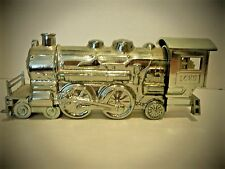 Avon Vintage Silver Locomotive Decanter Deep Woods After Shave Empty