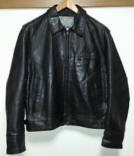 Aero Leather Jacket Highwayman  size 40 Front Quarter Horsehide black Good con!