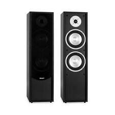 "BLACK WOODEN CABINET FLOOR STANDING TOWER SPEAKER SET HOME CINEMA 6.5"" WOOFER"