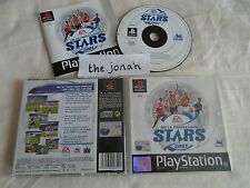 The FA Premier League STARS 2001 PS1 (COMPLETE)black label rare Sony Playstation