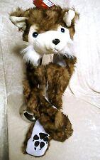 FOX Full Face Animal Hood Hoodie Hat Faux Fur Scarf 3 in 1 Function LONG Flap