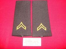 Pair Of US Army CORPORAL Rank (Large Size) Shoulder Badges Epaulets *Unused*