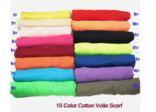 2013 NEW pure Color womens 100% cotton Voile Scarf /Shawl/hijab/muslim long wra