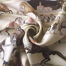 """Hermès Paris carré sciarpa seta scarf silk """"la présentation des chevaux"""" Ledoux"""