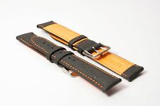 Hadley-Roma 20mm Sailcloth Lorica Watch Strap - Orange