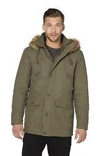 Men's Tokyo Laundry Askel Aksel parka jacket Brand New Khaki Medium