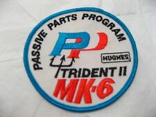 """Vintage 3 1/2"""" Navy Trident Missile II MK-6 Patch Submarine Military Collectible"""