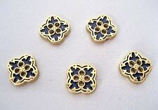 lot of 5, 10mm  Metal gold cutout clover sew on 4 Holes Buttons, shirt, blouse
