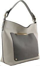 Ladies Womens Fashion 2 Toned Grey Bags Celebrity Bag Handbag Stylish Handbags