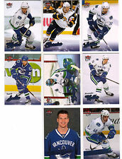 08/09 Fleer Ultra Vancouver Canucks Team Set with Rookies - Sedin Brown +