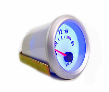 S4 52mm volt meter/tension gauge blue back light silver rim sans logo