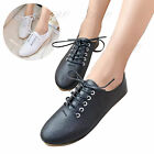 Women Girl Casual Shoes Lace Up Pointed Toe Comfort Oxford Pumps Flats Sneakers