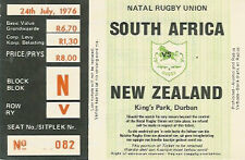 SOUTH AFRICA v NEW ZEALAND 1st Test 1976 RUGBY TICKET