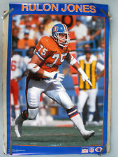 RARE RULON JONES BRONCOS 1988 VINTAGE ORIGINAL NFL STARLINE FOOTBALL POSTER