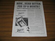 1954 Print Ad Zenith Royal-T Hearing Aids Chicago,IL