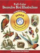 Full-Color Decorative Bird Illustrations CD-ROM and Book (Dover Electronic Clip