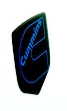 DODGE RAM CUMMINS GRILLE EMBLEM 2006-2010  Black/BLUE Outline