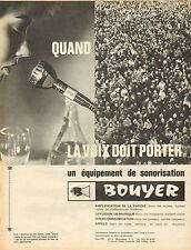 Publicité 1965  bouyer équipement de sonorisation amplification de la parole