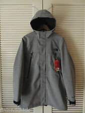 NORTH FACE GRAPHITE GRAY TNF APEX BIONIC TRENCH COAT HOODED JACKET, MENS M ~ NWT