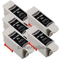 5 Pack #10XL Black Ink for Kodak 10 ESP 3200 3250 5200 5250 7250 9250 Printer