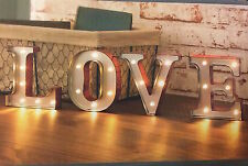 New Metal Love Letters LED Light Sign Carnival Wall Mounted or Freestanding