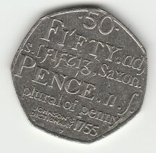 Dictionary 2005  50p COIN RARE FIFTY PENCE