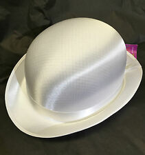 New white classic bowler hat tap dancing formal fancy dress Singing in the rain