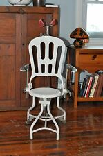 VINTAGE CAST IRON DENTIST DENTAL MEDICAL CHAIR STOOL 1900 INDUSTRIAL Steampunk
