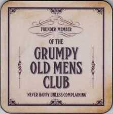 "New coaster set of 6 ""Founder Member of the Grumpy Old Mens Club"""