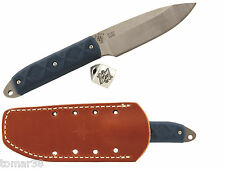KA-BAR 5101 Mike Snody BOSS Knife With Sheath, Pewter Bead, & Extra Handle Set
