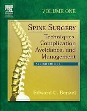 Edward Benzel Complete Set Spine Surgery Complication Avoidance and Management