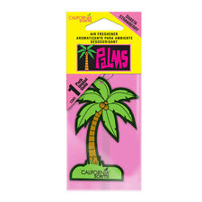 California Scents PALM TREE Hanging Car Home Air Fresheners Freshner STRAWBERRY