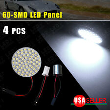 4X Pure White Interior Door Dome Map 60SMD LED RV Panel + 1156 T10 Adapter Light