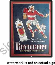 VINTAGE BARBER AD FOR BRYLCREEM , REPRODUCTION, BARBER SHOP, SIGN DECOR, RETRO