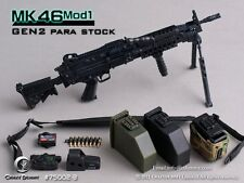 "Crazy Dummy 1:6 MK46 Mod1 Gen2 Para Stock Weapon Model 75002-3 For 12"" Figure"