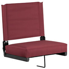 Game Day Stadium Seats® by Flash with Ultra-Padded Seat in Maroon [XU-STA-M-GG]