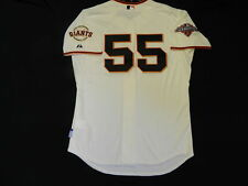 Authentic MAJESTIC SIZE 48 XL SAN FRANCISCO GIANTS T. LINCECUM COOLBASE Jersey