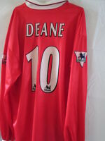 Middlesbrough Deane 1998-1999 Match Worn & Squad Signed Football Shirt with COA