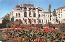 Romania Craiova Square Statue Monument Flowers