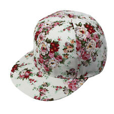 Women Summer Floral Hip-Hop Girls Hat Flat Adjustable Baseball Cap HOot 3