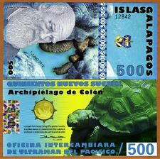 Galapagos Islands 500 Sucres, Banknote Polymer Currency, 2012, UNC
