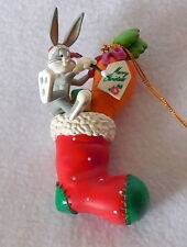 1998 LOONEY TUNES CHRISTMAS ORNAMENT Bugs Bunny Christmas stocking