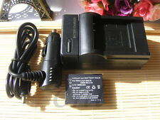 Battery + Charger for Panasonic Lumix DMC-TZ4, DMC-TZ5, DMC-TZ15 Digital Camera