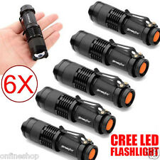6X Mini CREE Q5 LED Zoomable Focus Bright Flashlight Torch 1200LM Light AA/14500