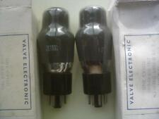 HALL VALVE TUBE MATCHED PR 6J5G L63 CV1932 AUDIO TRIODES NEW OLD STOCK.