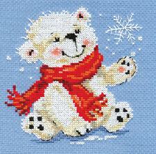 "Counted Cross Stitch Kit ALISA - ""White bear cub"""