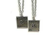 Breaking Bad inspired Br Ba pendant necklaces 24 inch chain