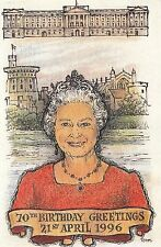 (44874) Postcard The Queen 70th Birthday 1986