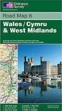 Wales and West Midlands by Ordnance Survey (Sheet Road Map 6)